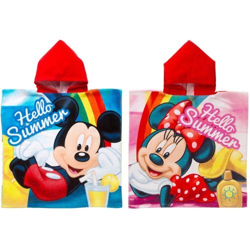 Kids Minnie / Mickey Mouse Hooded Poncho