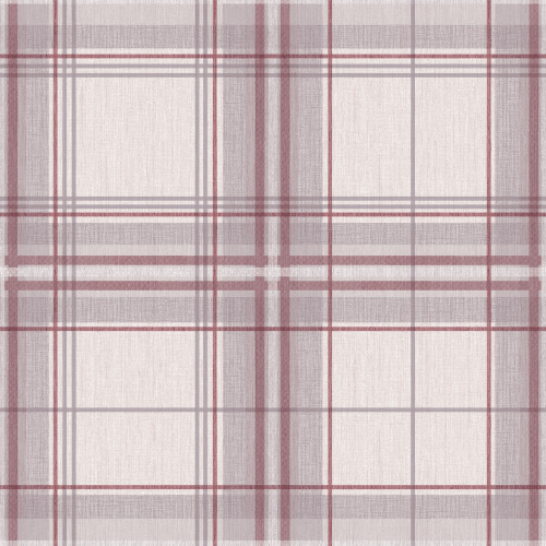 Arthouse Woven Check Tartan Effect Textured Faux Fabric Wallpaper 942301