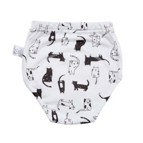 2 PCS Diapers with Kittens Pattern Leakproof Breathable Baby Training Pants