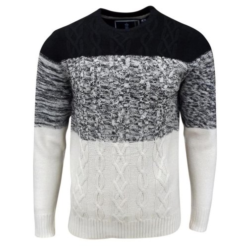 Soul Star Men's Caspian Cable Knit Jumper