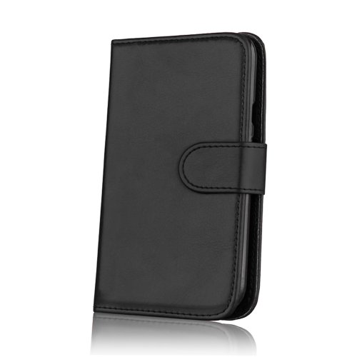 new concept ee82a c6465 32nd Book Wallet PU Leather Flip Case Cover For Motorola Moto G3 (2015),  Design With Card Slot and Magnetic Closure - Black