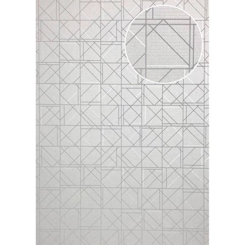 ATLAS XPL-591-6 Graphic wallpaper shiny grey light grey 5.33 sqm