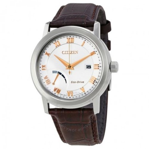 Citizen Eco-Drive Leather Mens Watch AW7020-00A