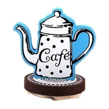 Lovely Coffee Pot Pattern Classical Stamper, Blue