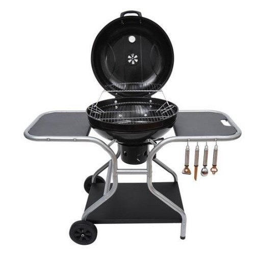 Outsunny Garden Barbecue Grill With Charcoal Trolley | Charcoal BBQ