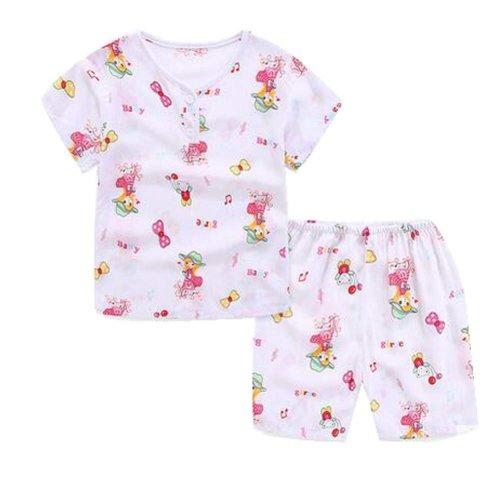 Little Girls' Short Pajamas Sets Toddler Soft Cotton Kids Sleepwears