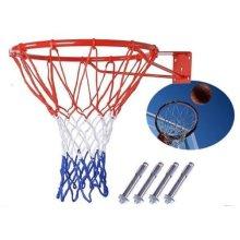 FastFold Wall-mounted Basketball Hoop with Net