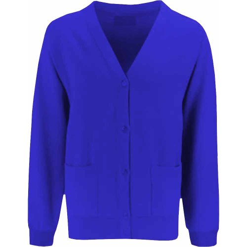 Uniform Fleece Ladies Cardigan Royal Blue Adult XXL