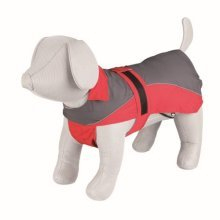 Trixie Lorient Raincoat, 50 Cm, Red/grey - Dog Sizes Rain Coat Redgrey Various -  lorient dog sizes rain coat trixie redgrey various keep your dry