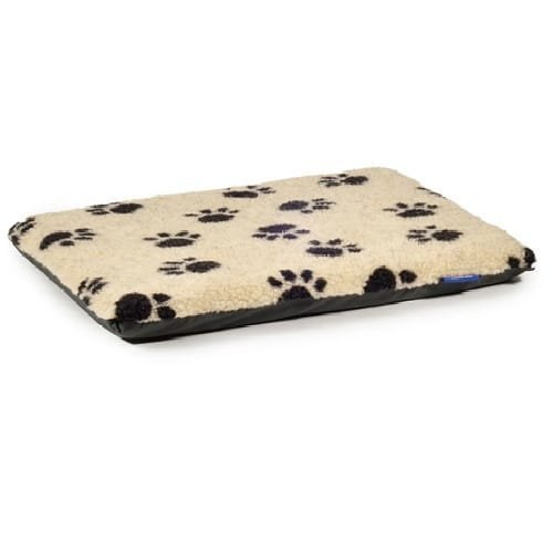 Ancol Paw Flat Pad - Black Footprint on Cream Pad