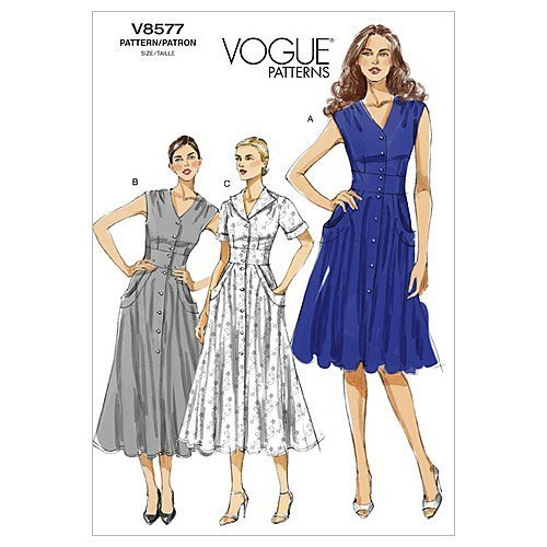 Vogue Patterns V8577 Size BB 8-10-12-14 Misses' Dress