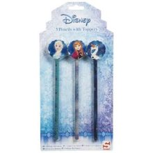 DISNEY FROZEN | Pencils with Toppers (Pack of 3)