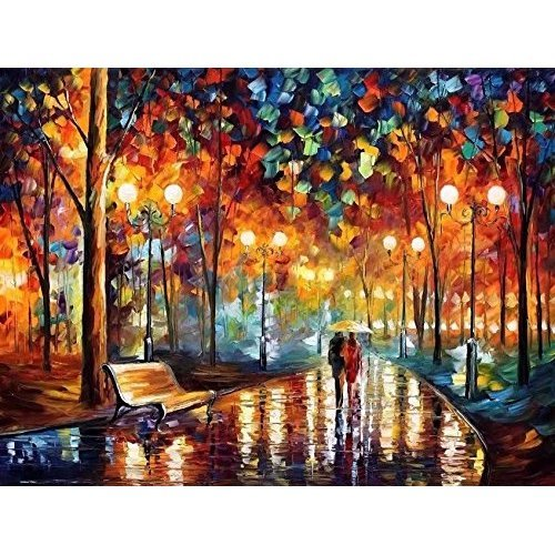 Suntown Wooden Framed Paint by Numbers for Adults and Kids 40 x 50cm Canvas Painting with Brushes and Acrylic Paints - You and Me (Canvas is...