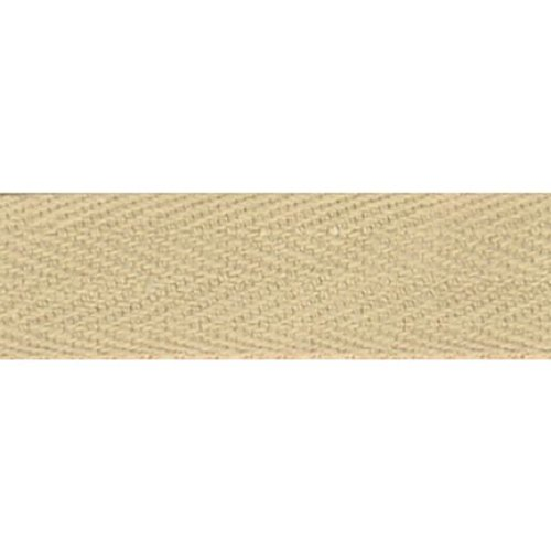 """Products From Abroad 100% Cotton Twill Tape 1.125""""X55yd-Khaki"""