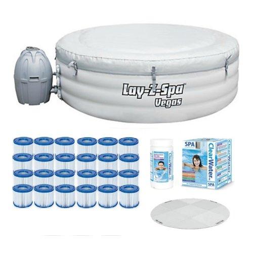 Bestway Lay-Z-Spa Vegas & Platinum Starter Kit - Protector, Filters, Chemicals