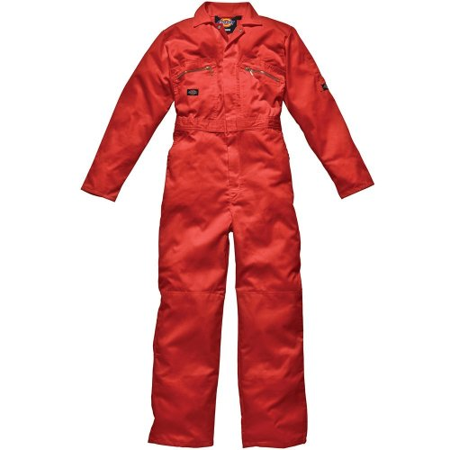 Dickies WD4839 Redhawk Overall with Zip Front, 36R, Orange