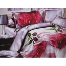 Duvet Cover Set Roses Flowers 3D Effect Bedding Sets and Sheet Single