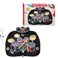 Global Gizmos Childs Drum Kit Playmat with MP3 Games Fun Toy
