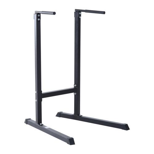 HOMCOM Fitness Pull Push Up Bar Tower-Black