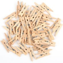 200 Natural Wooden Mini Pegs 25mm