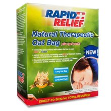 Rapid Relief Natural Therapeutic Oat Bag with Gel Pack - Long