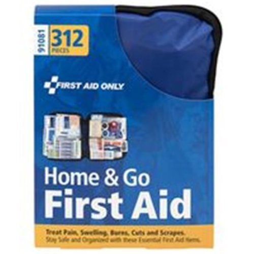 First Aid Only 8313025 Home & Go First Aid Kit, 312 Piece