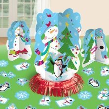 Joyful Snowman Christmas Table Decorating Kit