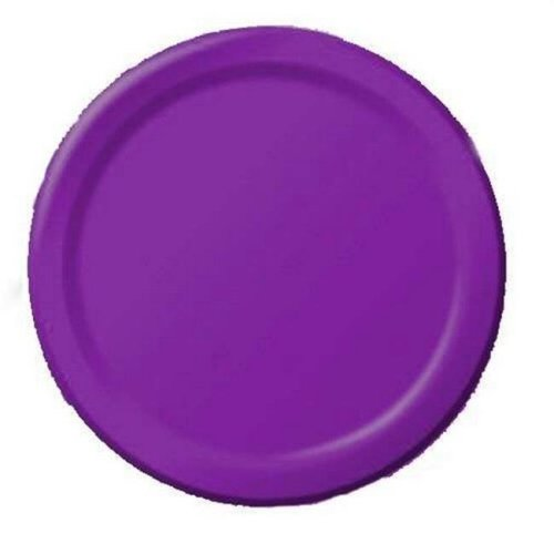 Amscan 64015 106 7 in  Paper Dessert Plate, New Purple - Pack of 120