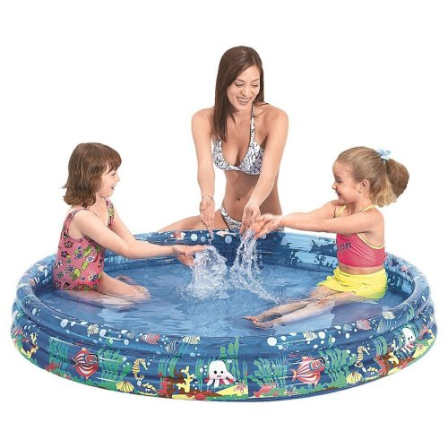 Jilong Tropical Fish Pool 122 - children´s paddling pool with ocean theme, for children from 2-6 years, Ø122x25 cm
