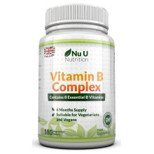 Vitamin B Complex 180 tablets (6 month supply) - Contains Eight B Vitamins