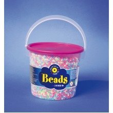 Pbx2455965 - Playbox - Beads in Bucket (pastel Mix) - 20000 Pcs
