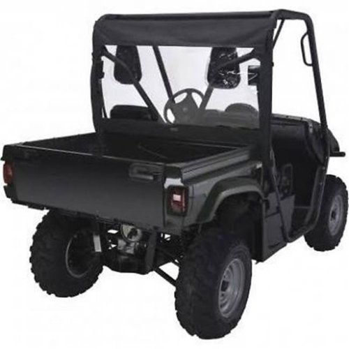 Classic Accessories 18-101-010401-00 UTV Rear Windshield - Black QuadGear