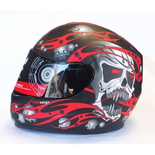 Viper RS-44 RS-250 Evo Skull Red Motorcycle Helmet