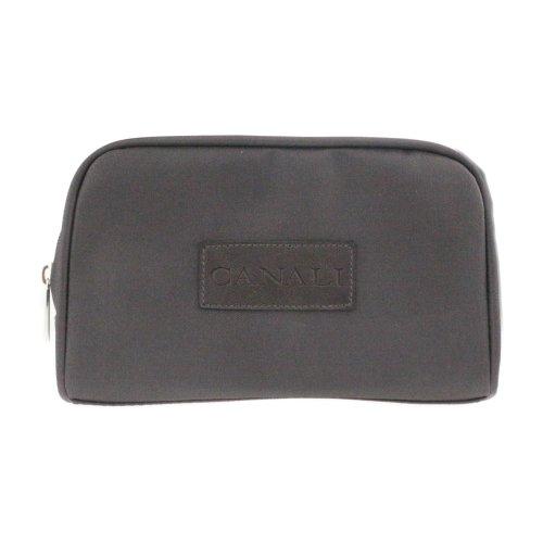 Canali Signautre Men's Dark Brown Toiletry Bag