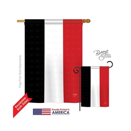 Breeze Decor 08270 Yemen 2-Sided Vertical Impression House Flag - 28 x 40 in.