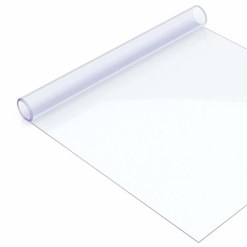 Clear Plastic Table Cover Acrylic Transparent Protector, 2mm Thick, Rectangle, 60cm x 120cm