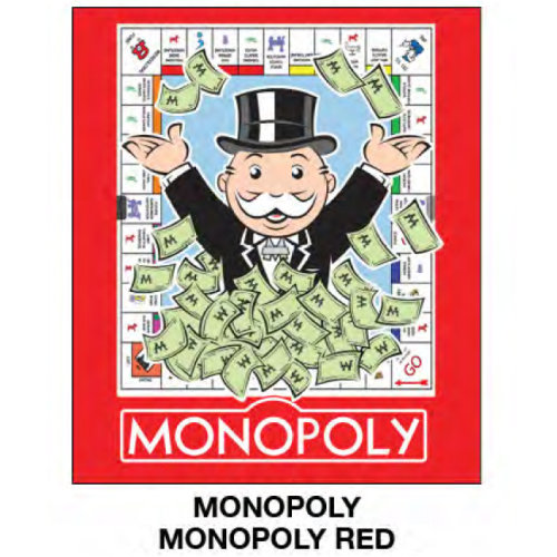 "Super Soft Throws - Monopoly - Monopoly Red New 45x60"" Blanket"