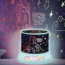 Amazing Unicorn Sky Fairy Star Night Light LED Projector Mood Lamp Kids Girls