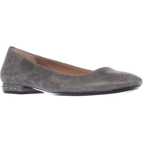 Calvin Klein Fridelle Studded Heel Ballet Flats, Shadow Grey, 3 UK