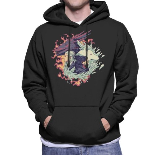 (X-Large) Ice And Fire Game Of The Thrones Men's Hooded Sweatshirt