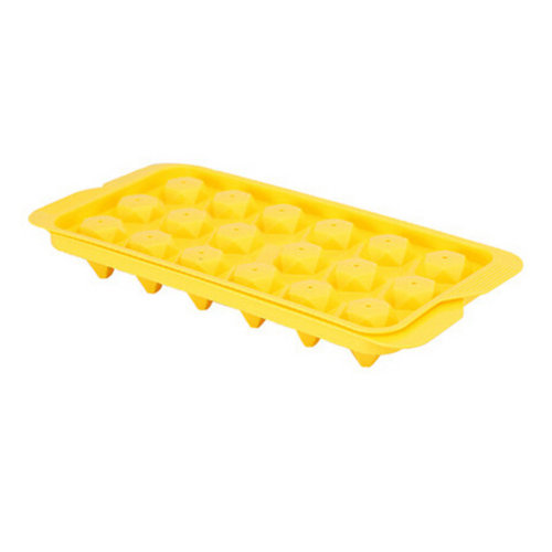 Set Of 2 Creative Polygonal Shape Ice Cube Tray For Home/Bar, Yellow