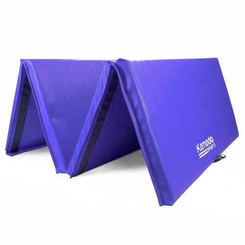 Large 4-Fold 8ft Gym Mat - Purple