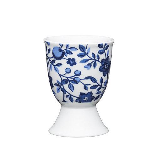 Kitchen Craft - Porcelain Egg Cup - Traditional Blue Floral