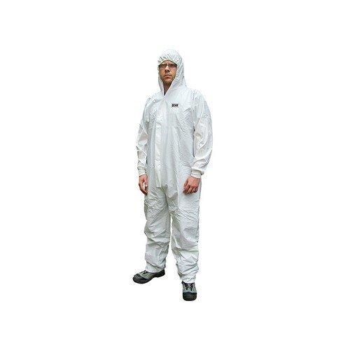 Scan CHEMSPLASH LAR Chemical Splash Resistant Disposable Coverall White Type 5/6 39-42in - L