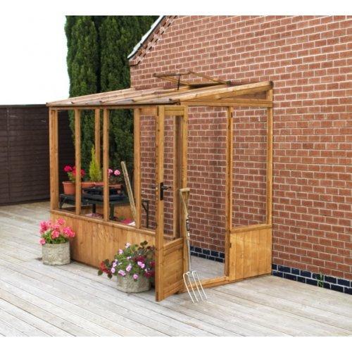 8x4 Pent Greenhouse Unit