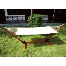 Outsunny Wooden Hammock Bed | Single Hammock Bed