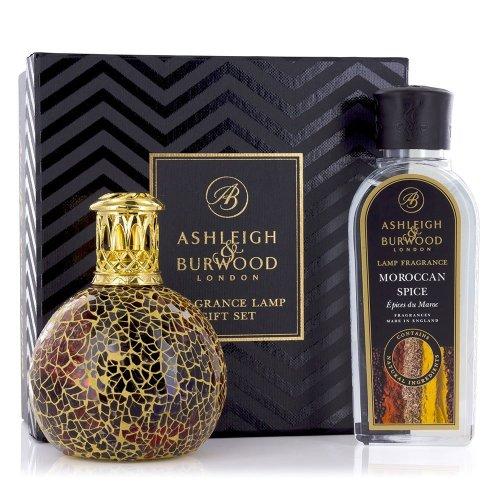 Ashleigh & Burwood Fragrance Oil Lamp Home Gift Set Diffuser Golden Sunset