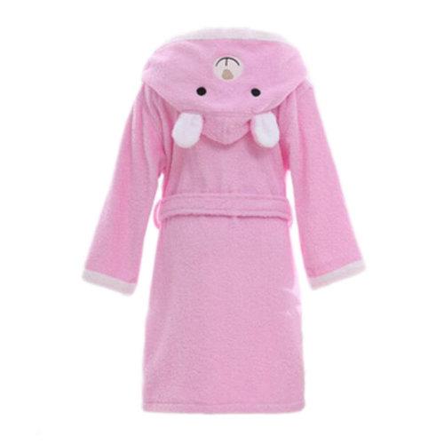 Children Cotton Bathrobe Soft Swim Bath Gown Robes Pajamas with Hat-A10