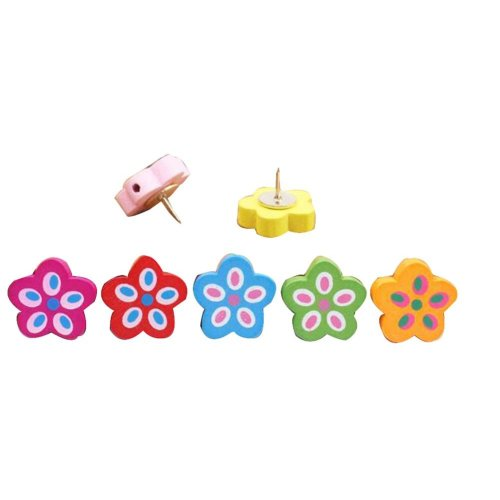 20 Pcs Creative Pushpin Push Pin Thumbtack Office Supplies, Petal