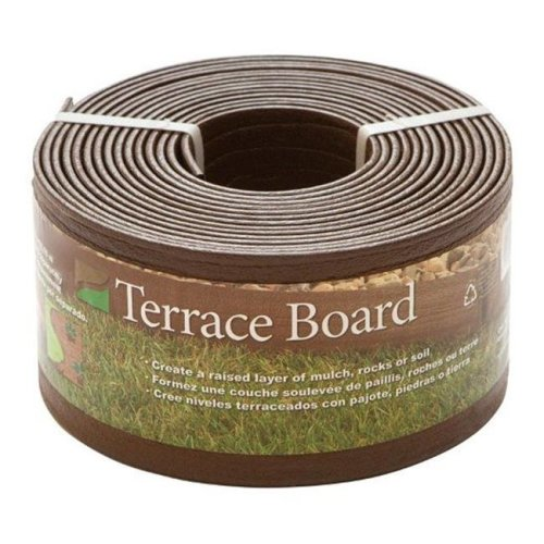 Master Mark 94320 Terrace Board Landscape Edging  Brown  4 in. x 20 ft.